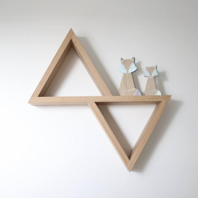 Étagère triangle